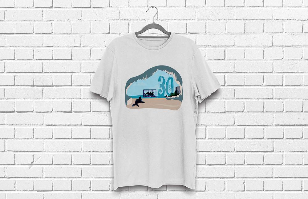 mockup t-shirt bianca per il Calagonone jazz 2017
