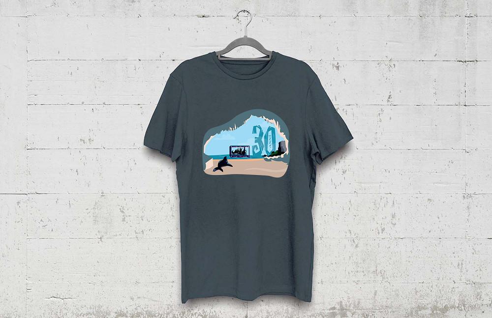 mockup t-shirt scura per il Calagonone jazz 2017