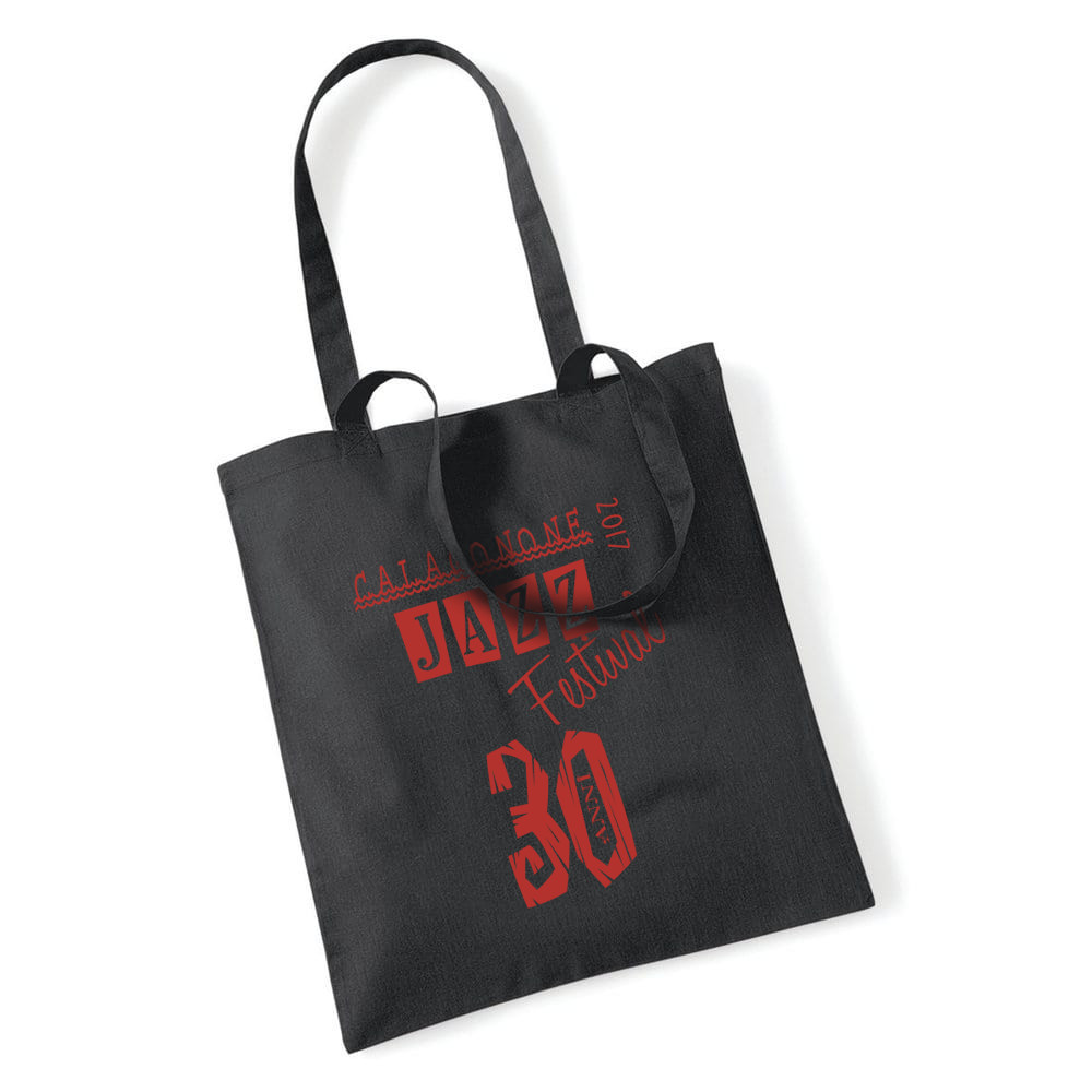 "mockup shopper bag nera Grafica di CGJF 2017 ""CGJF 30 anni"""
