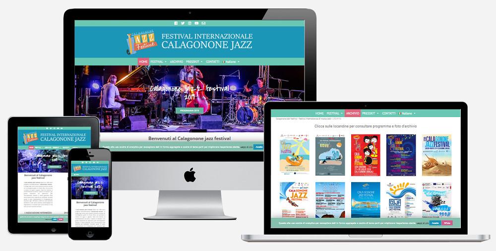 mockup sito web Calagonone jazz festival