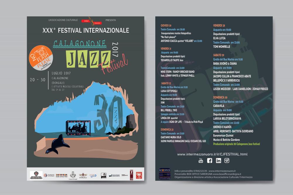 mockup flyer per il Calagonone jazz 2017