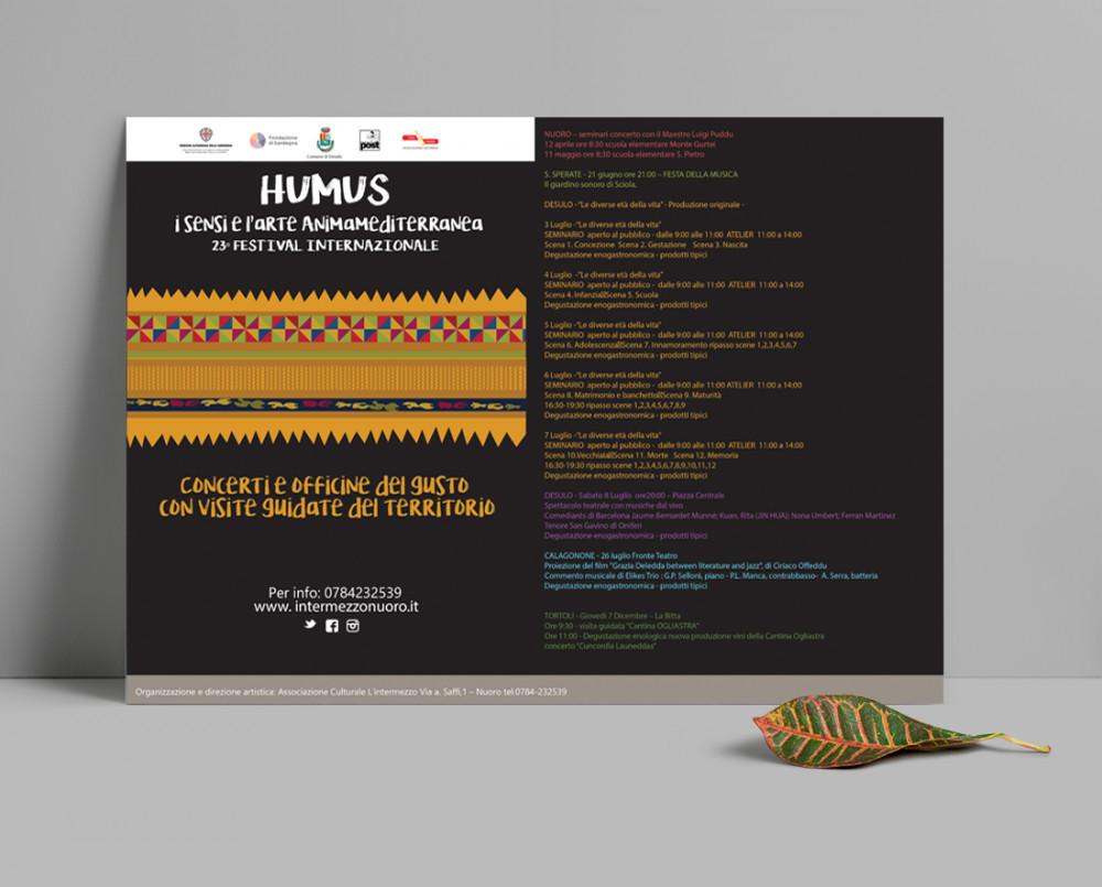 manifesto 70x100 evento Humus di Desulo in nero