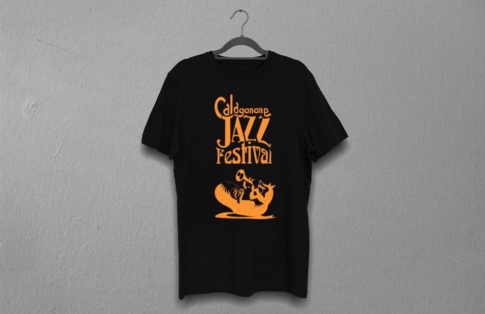 mockup t-shirt nera per il Calagonone jazz 2018