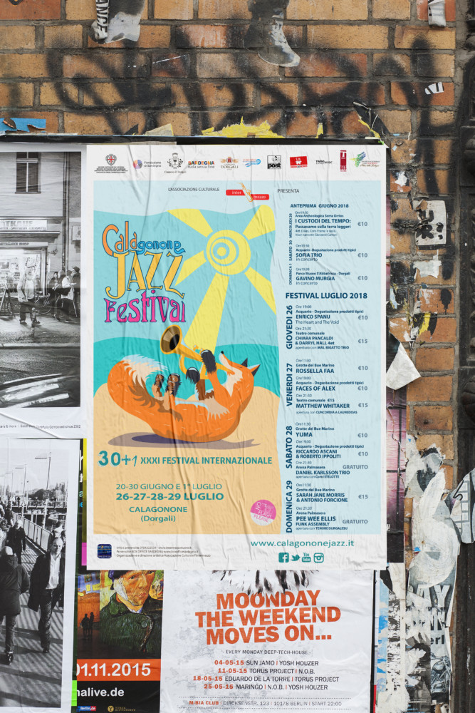mockup manifesto 70x100 per il Calagonone jazz 2018