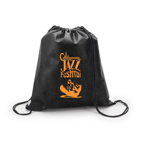 Grafica zaino nero con volpe per il Calagonone jazz 2018