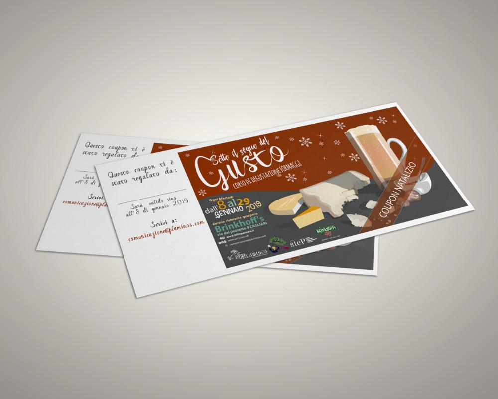"""mockup natalizi ticket """"il segno del gusto"""""""