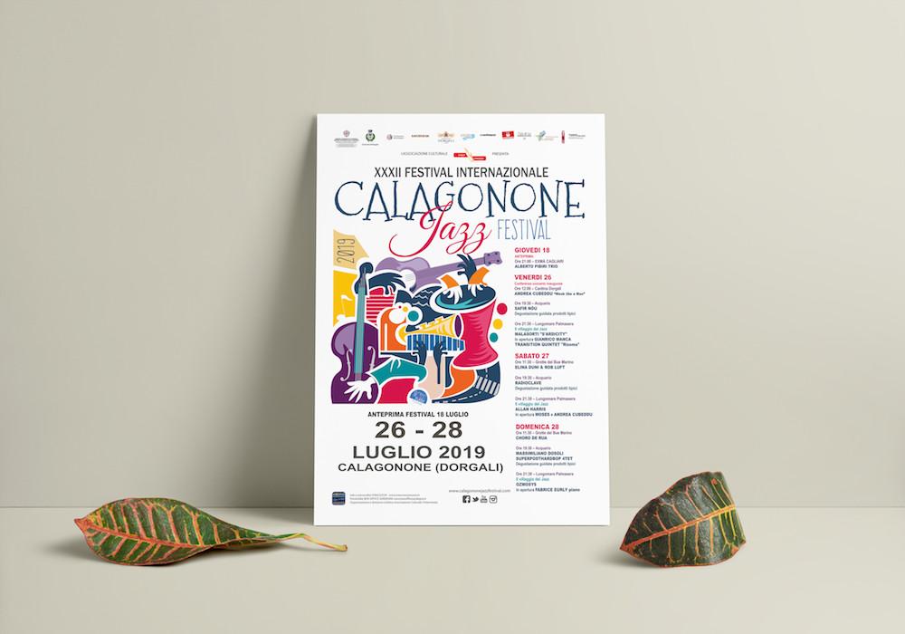 calagonone jazz festival 2019 la grafica 70x100