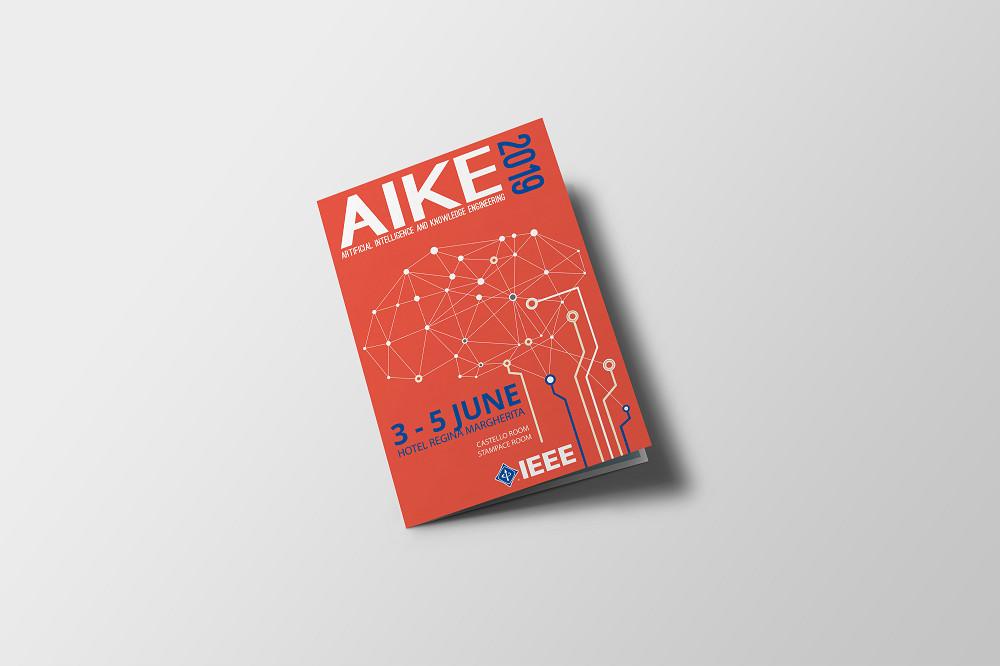 Grafica cartella con cervello Aike 2019