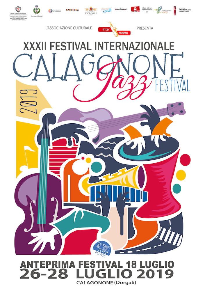 calagonone jazz festival 2019 l'anteriore del flyer
