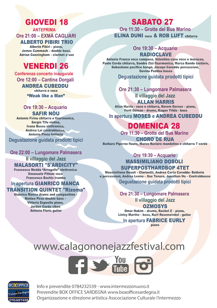 calagonone jazz festival 2019 il restro del flyer