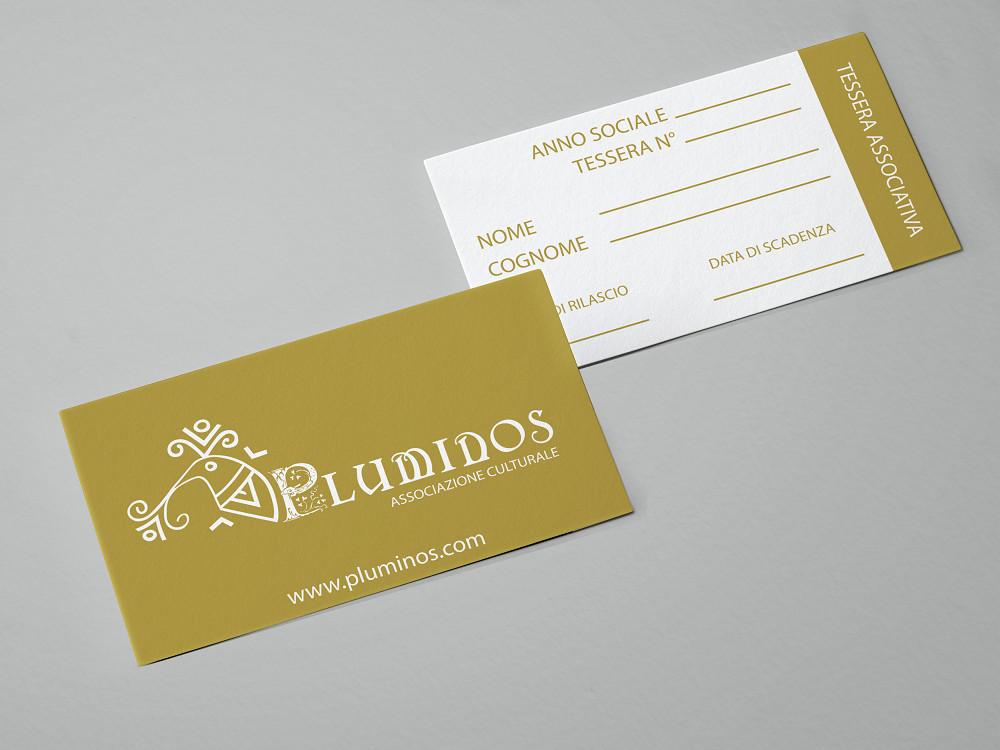 Mockup tessera associativa Pluminos
