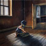 quadro con bambino in quarantena