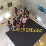 Io che spiego la mostra underground a dolianova foto dall'alto