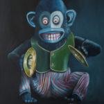 """quadro del giocattolo """"scimmia con i piatti"""""""